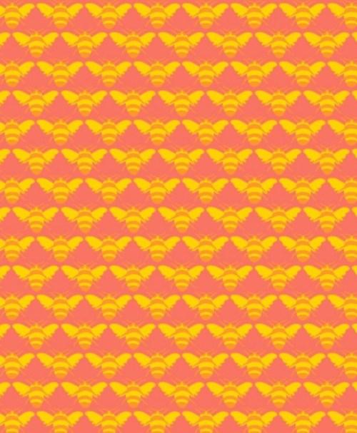 Strickschlauch Jacquardbündchen Biene gelb/lachs