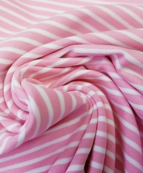Jersey Ringel rosa/weiß