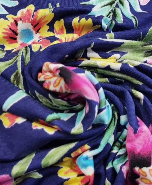 Viskosejersey bunte Blütenpracht