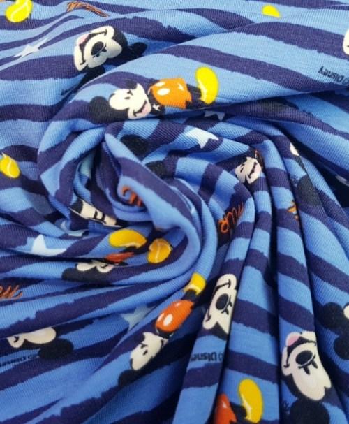 Lizenzjersey Mickey gestreift blau