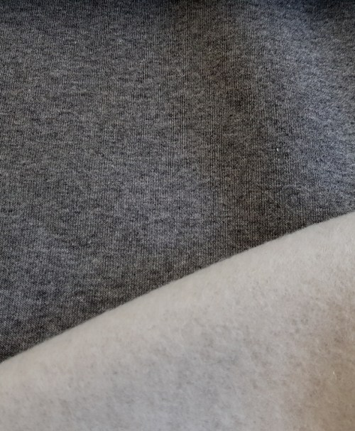 Reststück 0,4m 6€ Hilco Sweat Heavy Hoodie grau-meliert
