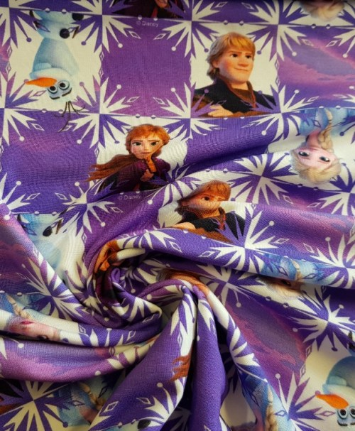 Lizenzjersey Frozen Anna, Elsa, Olaf, Christoph lila