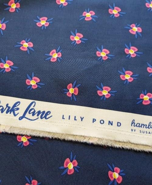 HHL Webware Popeline Park Lane LILY POND dunkelblau