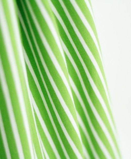 Stoffonkel Biojersey Streifen – kiwi-weiß