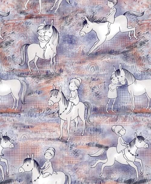 Lillestoff Jersey Susalabims Pferdespaß