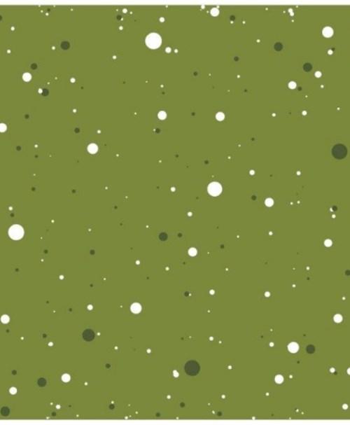 French Terry Wonderful Winterworld Dotties grün