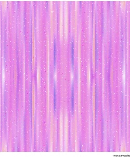 French Terry Regenbogen-Einhorn-Streifen rosa/pink