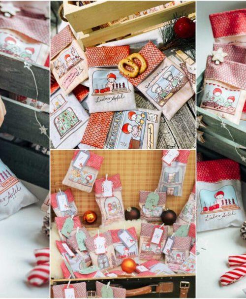 Lillestoff Webware Poplin Weihnachtssäckchen