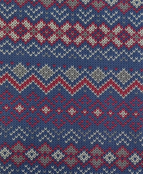 Sweat Norweger rot/blau