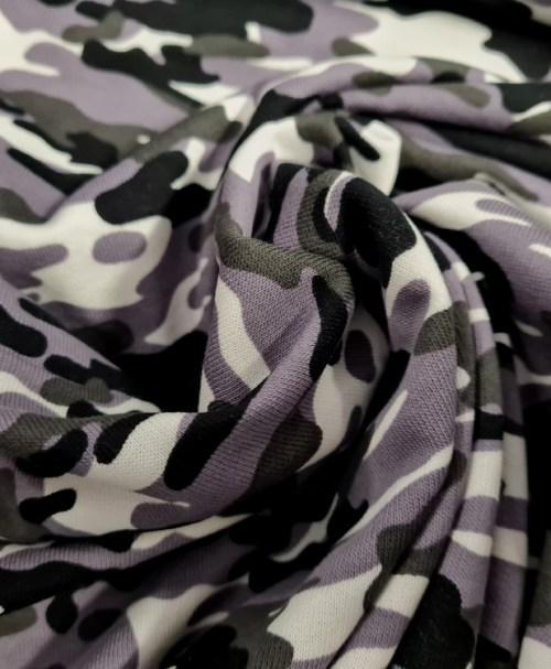 Sweat angeraut Camouflage grau