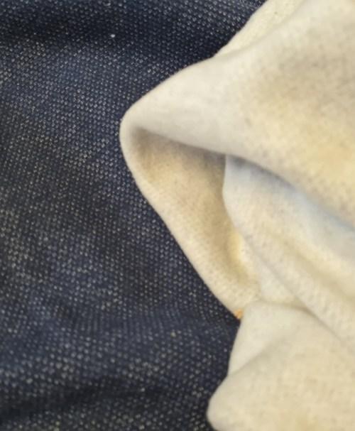 Jacquard-Sweat gebürstet, dunkelblau
