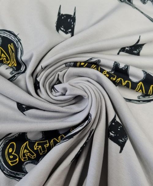Lizenzjersey Batman Logo und Maske, hellgrau