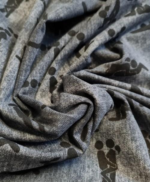 Jersey Kamasutra, jeansoptik grau