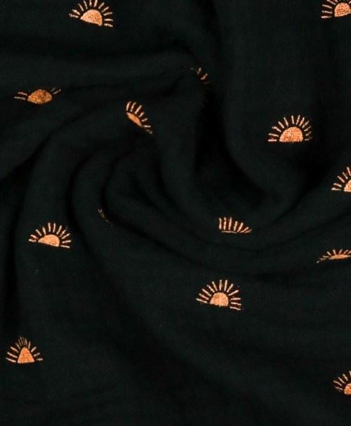 Musselin SUNSHINES, schwarz