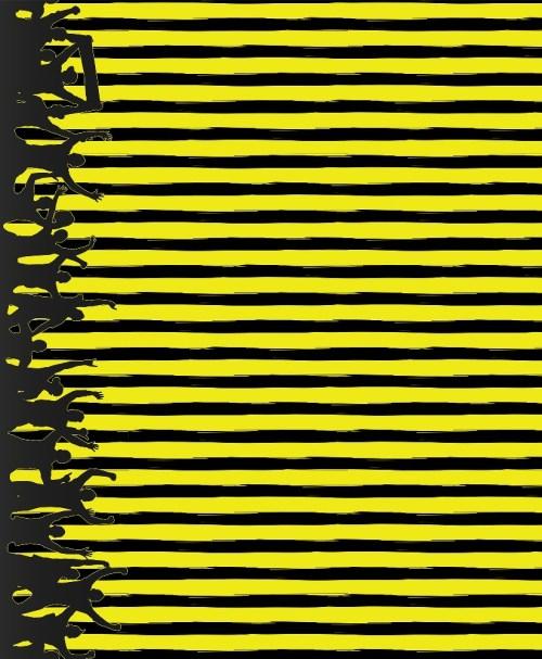 Jersey Bordüre FANS, gelb/schwarz