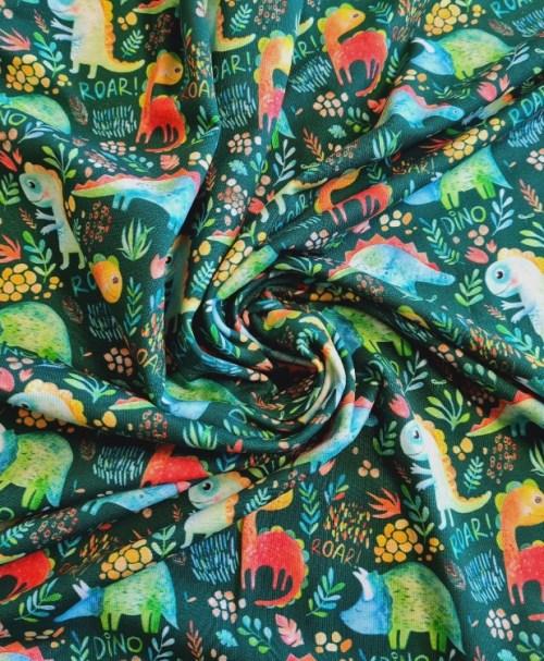 Jersey DINO ROAR, watercolour, dunkelgrün