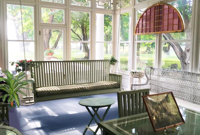 enclosed patio sunroom paint colors
