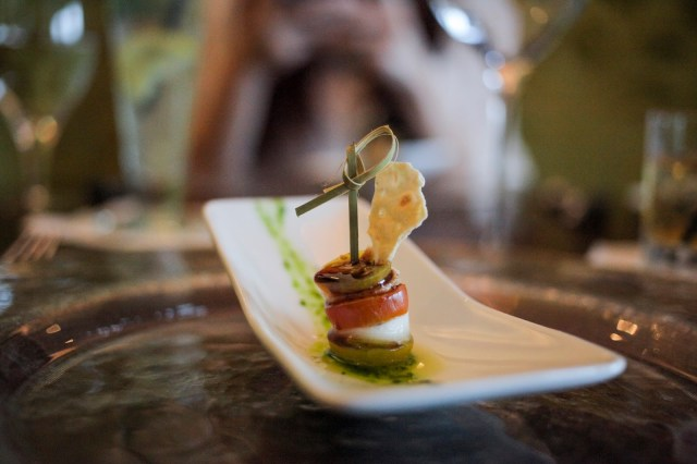Miniature caprese salad to awake the tastebuds at Azurea.