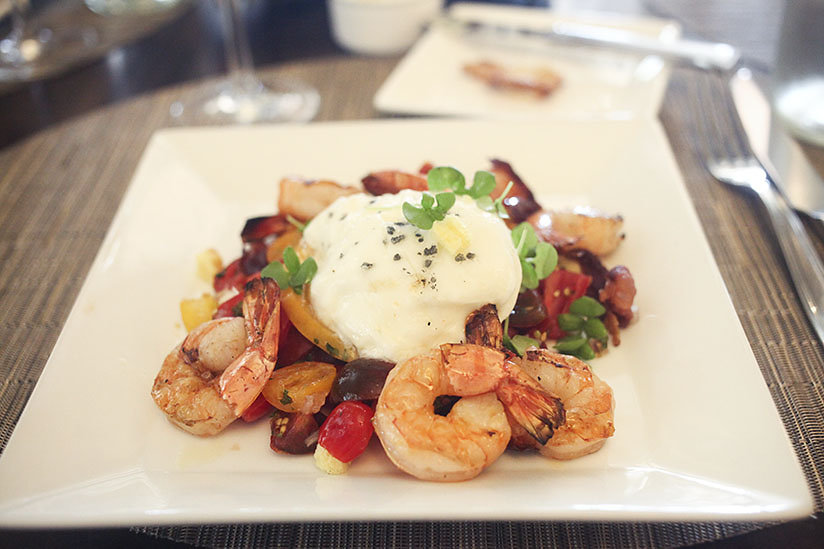 Burrata Caprese with Shrimp