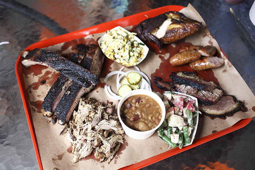 The San Marco BBQ platter at The Bearded Pig