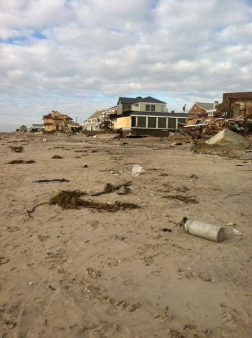 The beach near Neponsit, Queens, after Sandy