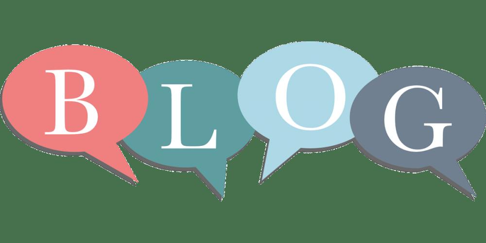 """""""Blog"""" in Speech Bubbles"""