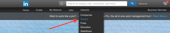How to find LinkedIn Groups