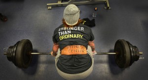 Weightlifting woman