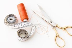 Tape Measure and Scissors