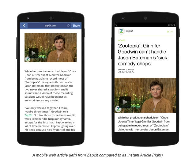 Example of Facebook Instant Articles 2