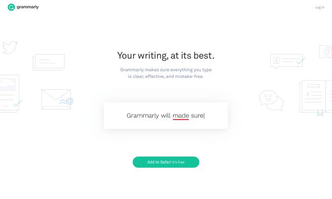 Grammarly Writing App Screenshot