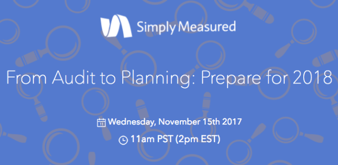 Content Audit Webinar Announcement - From Audit to Planning: Prepare for 2018