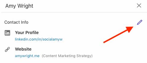 Edit website information on LinkedIn step 2.