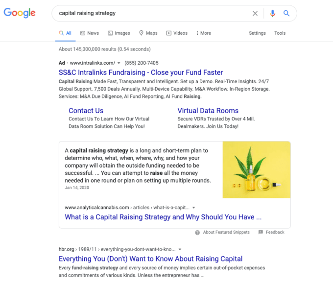 """Google search results for """"capital raising strategies."""""""