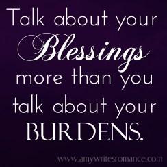 blessings vs burdens