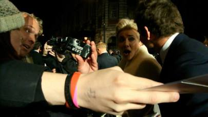Emma Thompson chatting to Bradley Cooper at the 2014 Bafta Awards.