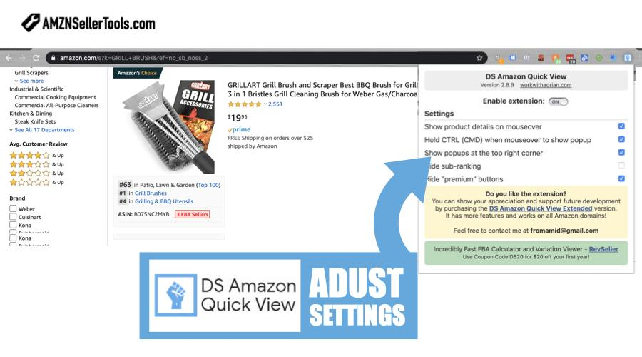 DS Amazon Quick View Free