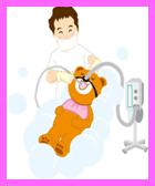 笑気麻酔治療のイラスト