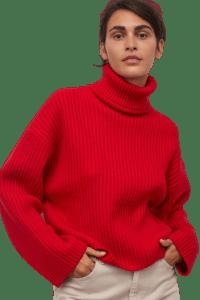 Ribbed Turtleneck Sweater (Cruelty-Free Valentine's Day)