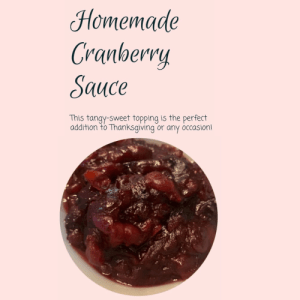 Cranberry Sauce Recipe Card - Product Image