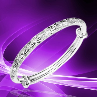 Adjustable Sparkling Bangle Bracelet Women Fashion Jewelry