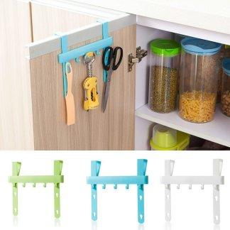 Kitchen Door Rack Hooks Hanging Storage Organizer