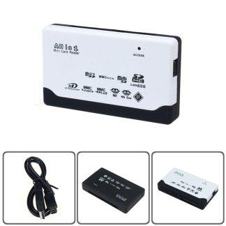 USB 2.0 Card Reader SD XD MMC MS CF TF Micro SD M2 Adapter