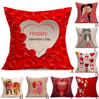 Heart Rose Pillow Case Cover Valentine Love
