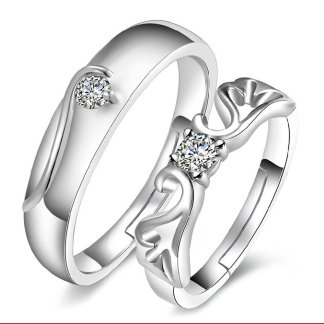 Adjustable Design Men Women Couple Jewelry Fashion Ring