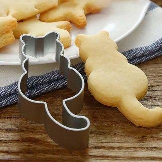 Cat Shape Aluminium Mold Cookies Pastry Dough Cutter