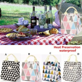 Portable Thermal Insulated Lunch Box Cooler Bag