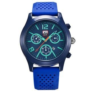 Luxury Black Dial Stainless Steel Date Quartz Analog Sport Men Wrist Watch