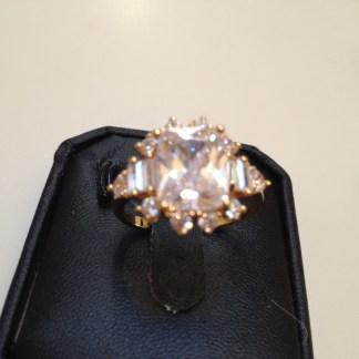 Clear Cubic Zircon Rhinestones Women Ring Fashion Jewelry