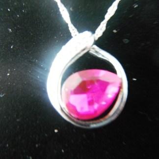 Crystal Rhinestones Drop Pendant Necklace